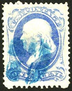 U.S. #182 USED BLUE CANCEL