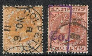 CEYLON 1883 - 99 QUEEN VICTORIA
