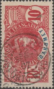DAHOMEY - 1907 - CAD  DAHOMEY ET DEPces / PORTO-NOVO  SUR 10c FAIDHERBE