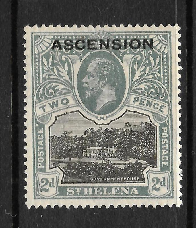 ASCENSION ISLAND  1922  2d   KGV  MLH  SG 4