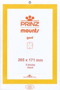 Prinz Scott Stamp Mount 171 / 265 mm Strip BLACK (Pk of 5) (171 mm 171x265)