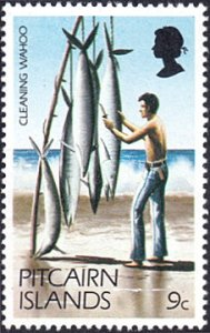 Pitcairn Islands # 167 mnh ~ 9¢ Cleaning Wahoo (Fish)