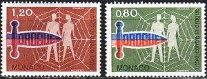 Monaco. 1976. 1246-47. Fight against drugs. MNH.