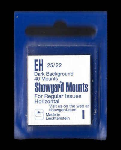 Showgard Black Stamp Mounts EH PreCut  (40 count)