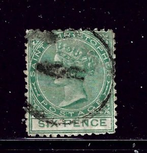 St Christopher 7 Used 1875 issue  few shortened perfs