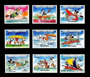 TURKS & CAICOS - 1984 - DISNEY - OLYMPICS - MICKEY - DONALD - MINT MNH SET OF 9!