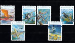 Alderney 2009 MNH Cent Naval Aviation 6v Set Seahawk Merlin Skua Stamps