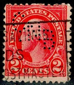 U.S.A.; 1927; Sc. # 634; O/Used Perforated Perf. 11x10 1/2 Single Stamp