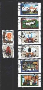 Mongolia. 1990. 2149-56. Genghis Khan, archeology. USED.