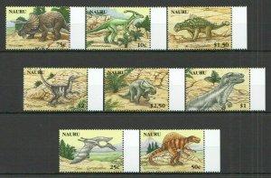V0687 2006 NAURU PREHISTORIC ANIMALS DINOSAURS #638-45 MICHEL 15 EURO 1SET FIX