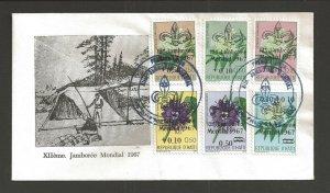 1967 Haiti Scouts World Jamboree ovpt flowers FDC