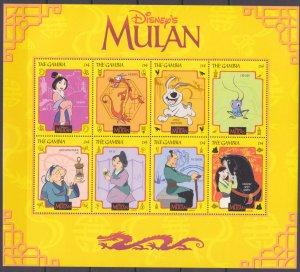 1998 Gambia 3030-3037KL Disney - Mulan 13,00 €