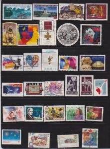 CANADA 30 DIFFERENT STAMPS USED LOT#297