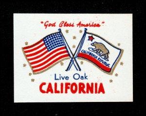 REKLAMEMARKE POSTER STAMP STICKER LIVE OAK CALIFORNIA MNH-OG