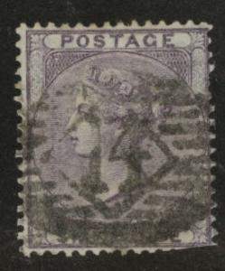 Great Britain Scott 27, 1856 Victoria 6p wmk 24 CV$100