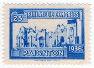 (I.B) Cinderella : 23rd Philatelic Congress (Paignton 1936) Abbey Ruins