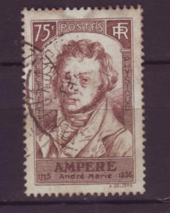 J20124 jlstamps 1936 france used #306 scientist