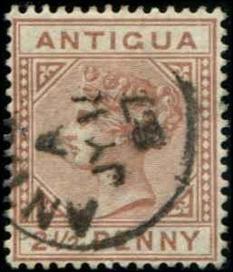 Antigua SC# 9 SG# 22 Victoria 2-1/2d wmk 1 Used