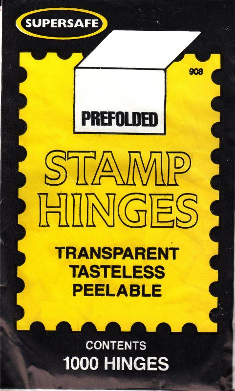 1 UNOPENED PACK OF SUPERSAFE STAMP HINGES 1000 FOLDED LOWEST PRICES ON EBAY*