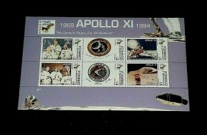 TOPICAL, 1994, SPACE, DOMINICA, APOLLO XI, SHEET/6, LOT #21, MNH, LQQK