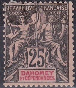 Dahomey #8 Unused  CV $24.00  Z907