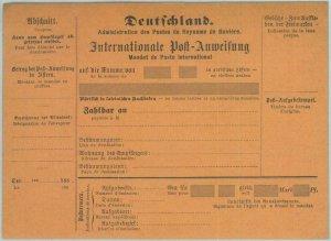 89302 - GERMANY Bayern - Postal History - STATIONERY International Money Order