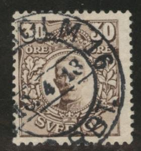 SWEDEN Scott 86 used 1910 stamp