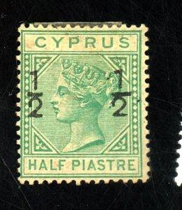 CYPRUS #18 MINT FVF OG LARGE HR Cat $ 190