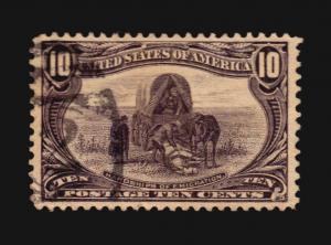 US #290 used TRANS-MISSISSIPPI EXPOSITION ISSUE XF 10c