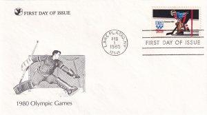 1980, Olympic Games-Hockey, RD, FDC (E11343)