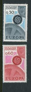 French Andorra #174-5 Mint