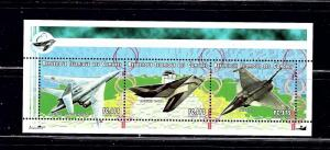 Comoro Is 938 MNH 1999 Airplanes Sheet of 3