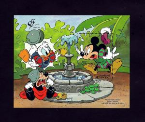 ST VINCENT - 1992 - DISNEY - MICKEY - DONALD - FOUNTAIN OF YOUTH - MINT S/SHEET!