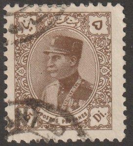 Persian stamp, Scott# 771,used, 5d, Olive brown, postmark,  #X-36