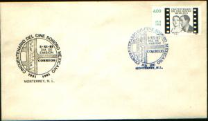 MEXICO 1258, FDC 50th Anniversary of Sound Movies. VF.