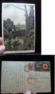 Malta Incoming 1915 PPC from Italy, Censored (31bet)