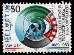 Switzerland - Scott 831 - Used - Uneven Perforation Teeth