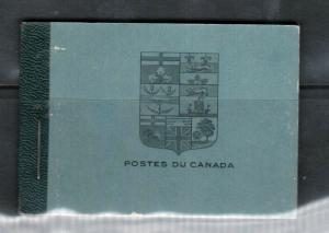 Canada Booklet #9a French Very Fine Mint Complete Booklet