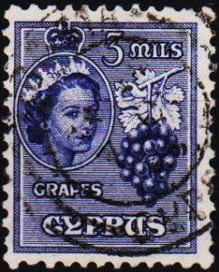 Cyprus. 1955 3m S.G.174 Fine Used