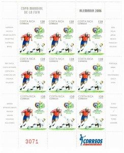 Costa Rica 591 MNH Sheet of 9 (SCV $27.50)