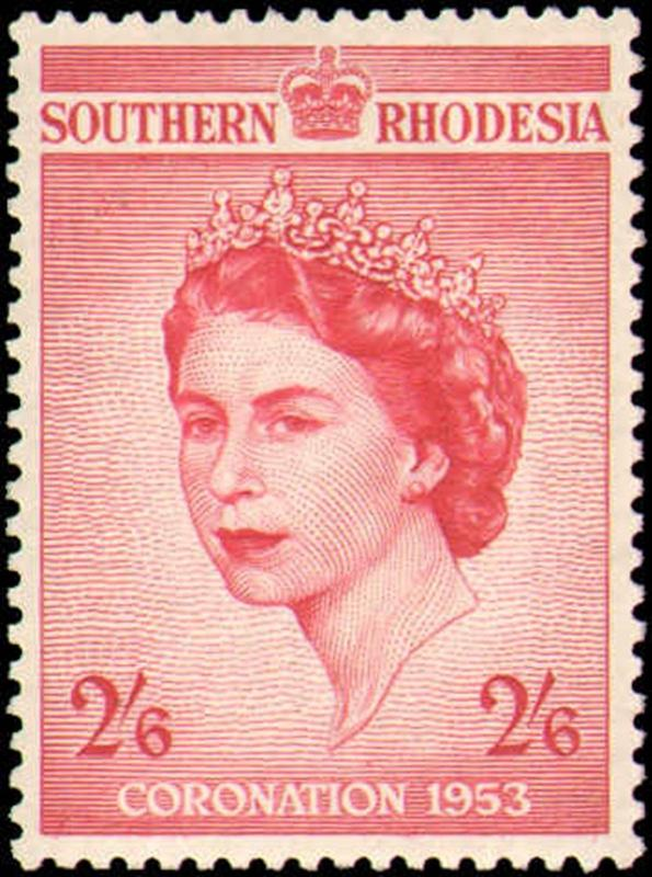 SOUTHERN RHODESIA #80  MINT NEVER HINGED COMPLETE SET ( 1 )