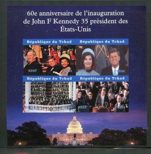 Chad 2021 60th Ann of Inauguration of John F. Kennedy im sheet mint never hinged
