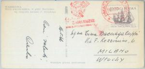 75357 - POLAND  - POSTAL HISTORY - RED Mechanical postmark on POSTCARD 1966