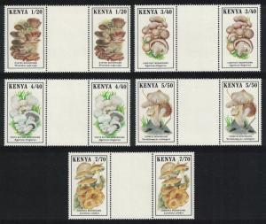 Kenya Mushrooms Fungi 5v Gutter Pairs SG#506-510