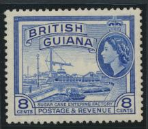 British Guiana SG 337 Mint Light Hinge  (Sc# 259 see details) ultramarine