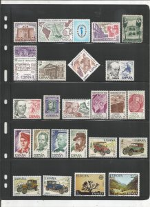 SPAIN COLLECTION ON STOCK SHEET, ALL MINT