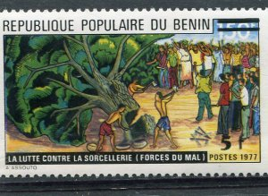 Benin 1977 FIGHT AGAINST WICHCRAFT Ovpt. New value Perforated Mint (NH)