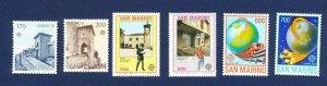 SAN MARINO - # 922-3,  1146-7, 1195-6 - VFMNH -  EUROPA - 1978-1988