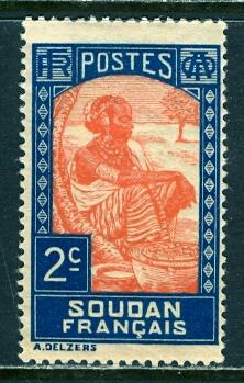 French Sudan 1931: Sc. # 62; */MH Single Stamp