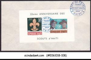 HAITI - 1962 22nd ANNIVERSARY OF HAITIAN BOY SCOUT MOVEMENT M/S FDC